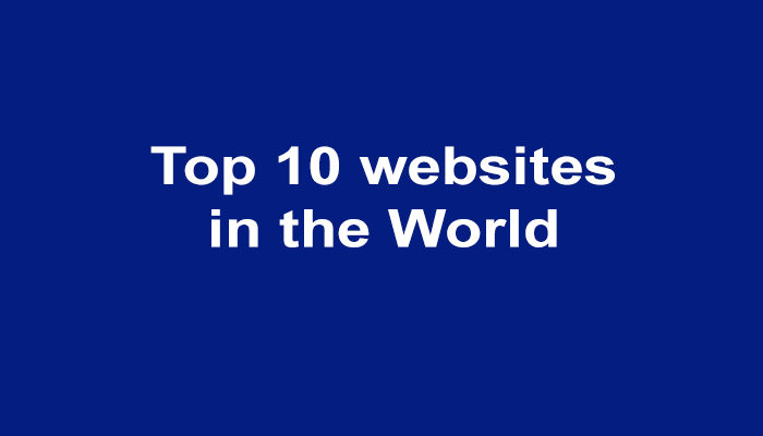 Top websites in the world